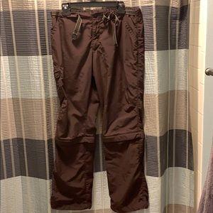 REI Brown Women's Zip Away Cargo Pants